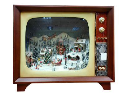 Christmas dekoration TV big mountain/village Timstor