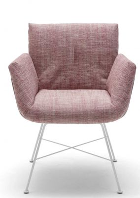 Alvo Armchair with 4-leg Wire frame Cor