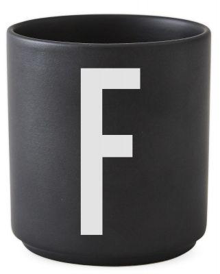 Buchstabenbecher Schwarz Design Letters-F