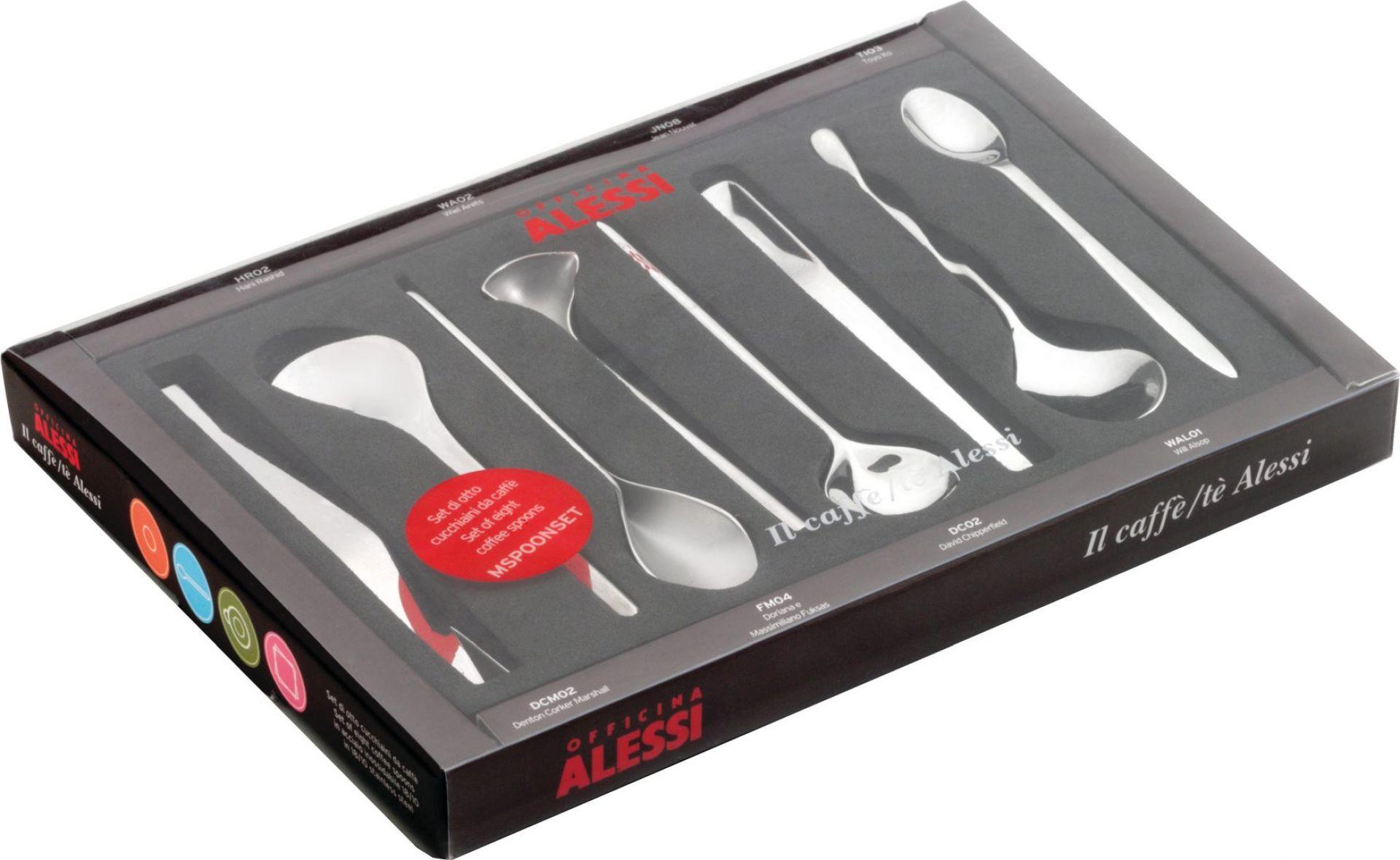Il caffè/tè Alessi, Set of 8 Coffee Spoons MSPOONSET Alessi