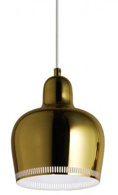 A330S Golden Bell Pendant light Pendant lamp Artek Brass-White