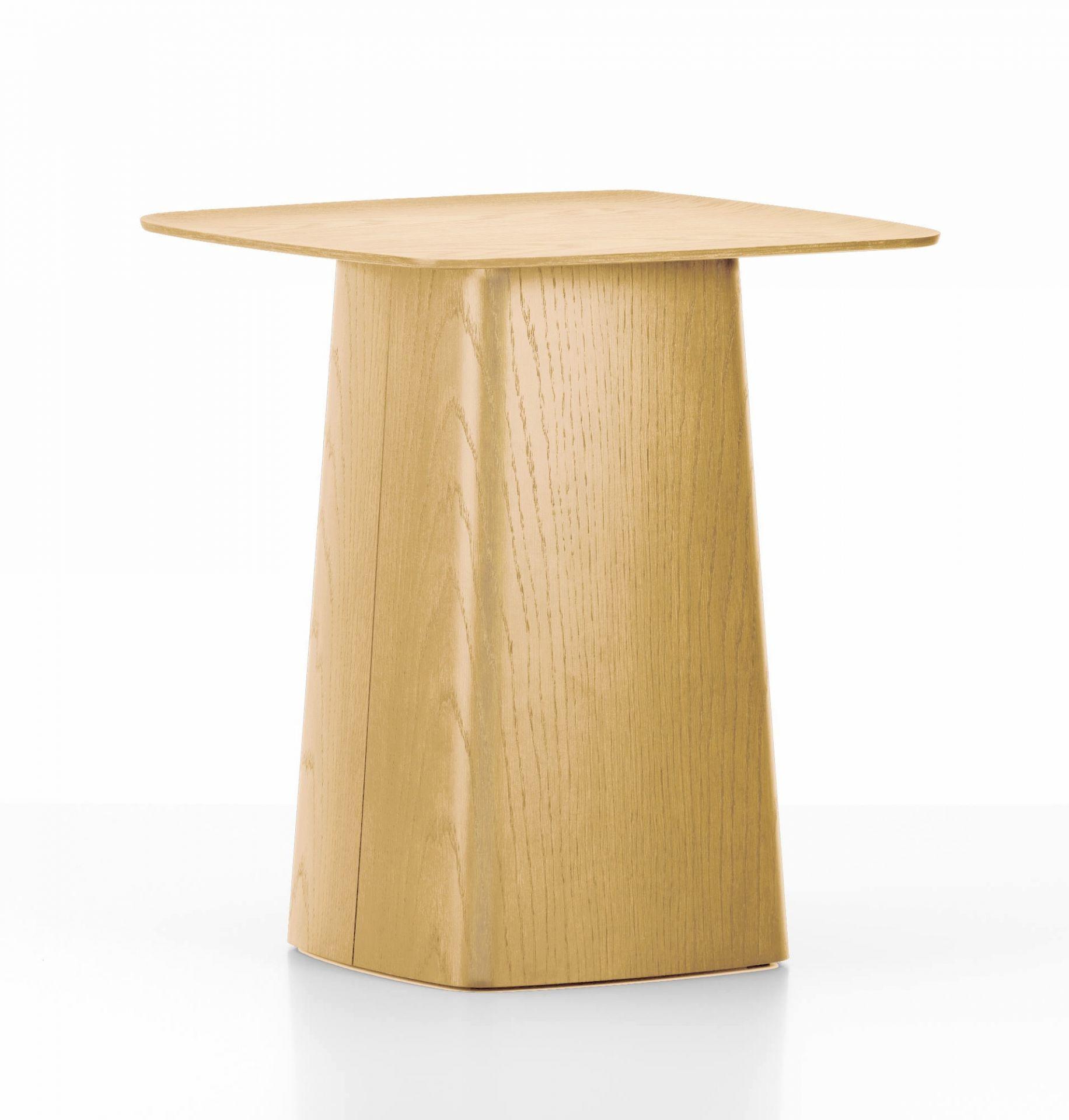 Wooden Side Table Beistelltisch Eiche mittel Vitra-Eiche dunkel