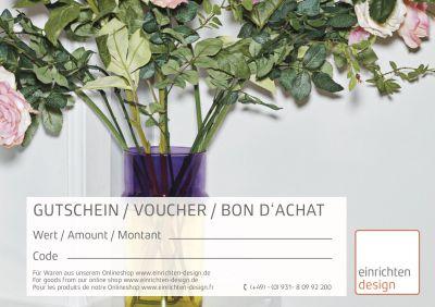 Gift coupon vase motif