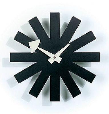 Asterisk Clock Wall Clock - schwarz Vitra