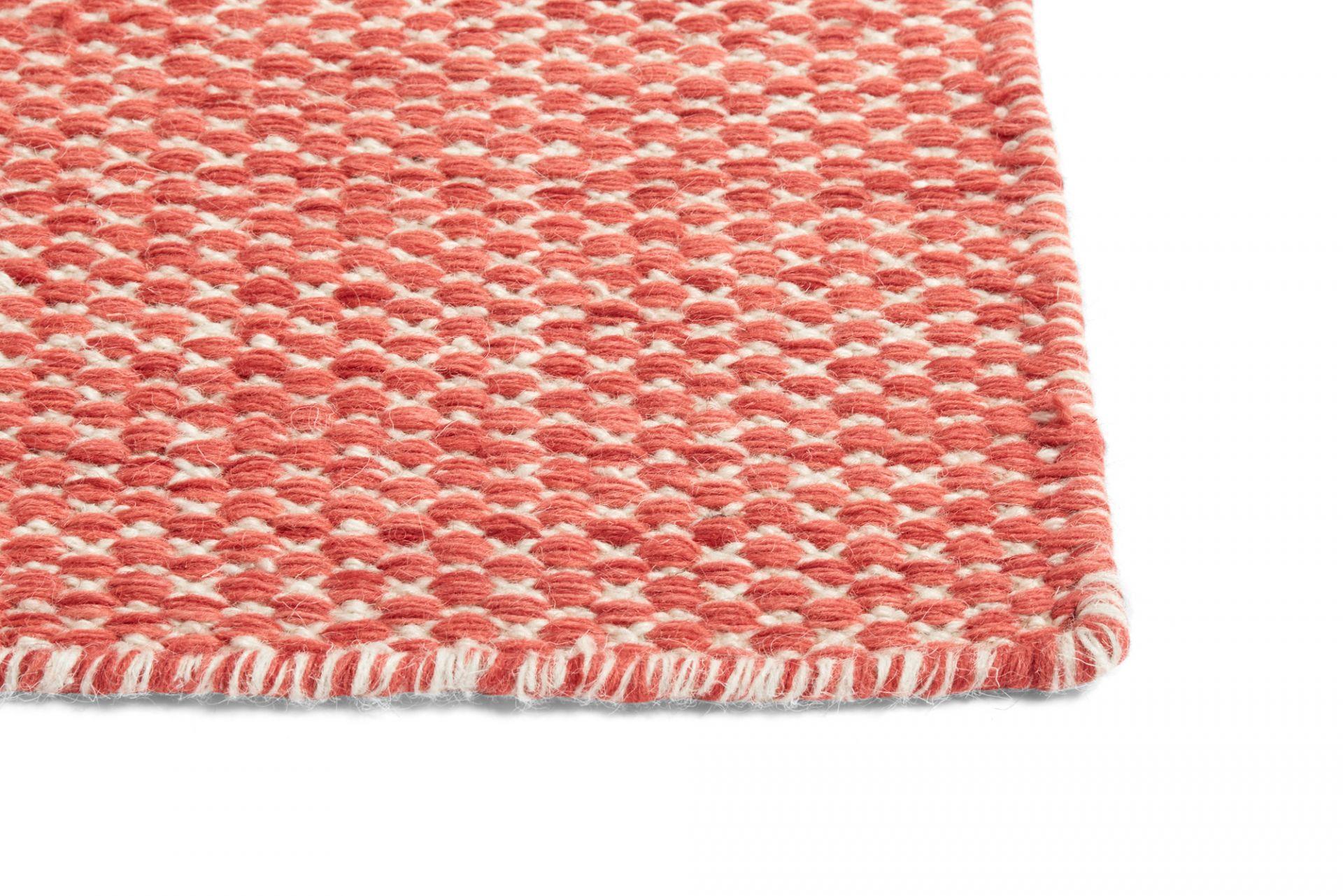Moiré Kelim Carpet L 200 cm coral Hay