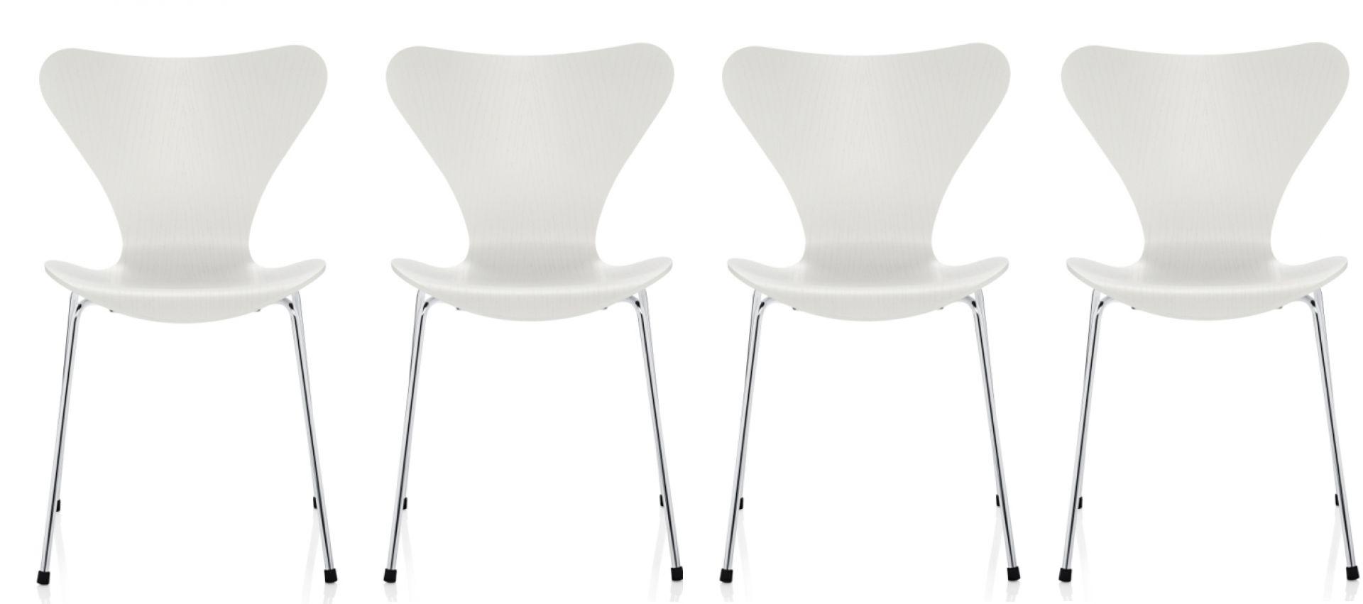 Sevens / Series 3107 Ash chair 4-er Set Fritz Hansen