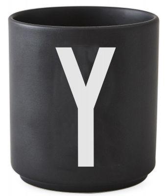 Buchstabenbecher Schwarz Design Letters-Y