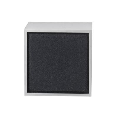 Acoustic Panel für Stacked Regalsystem mittel Muuto-Schwarz melange