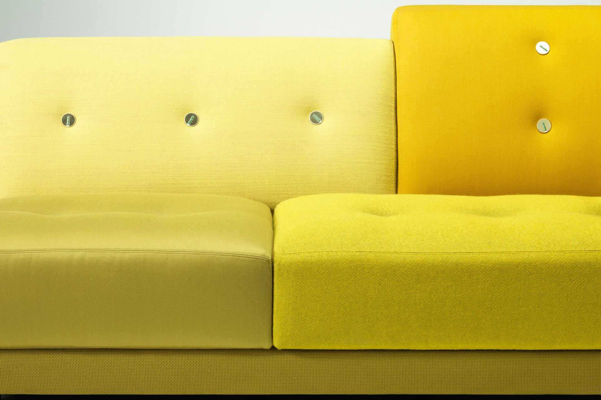 Polder Compact Sofa Green Low Armrest right Sitting left Vitra