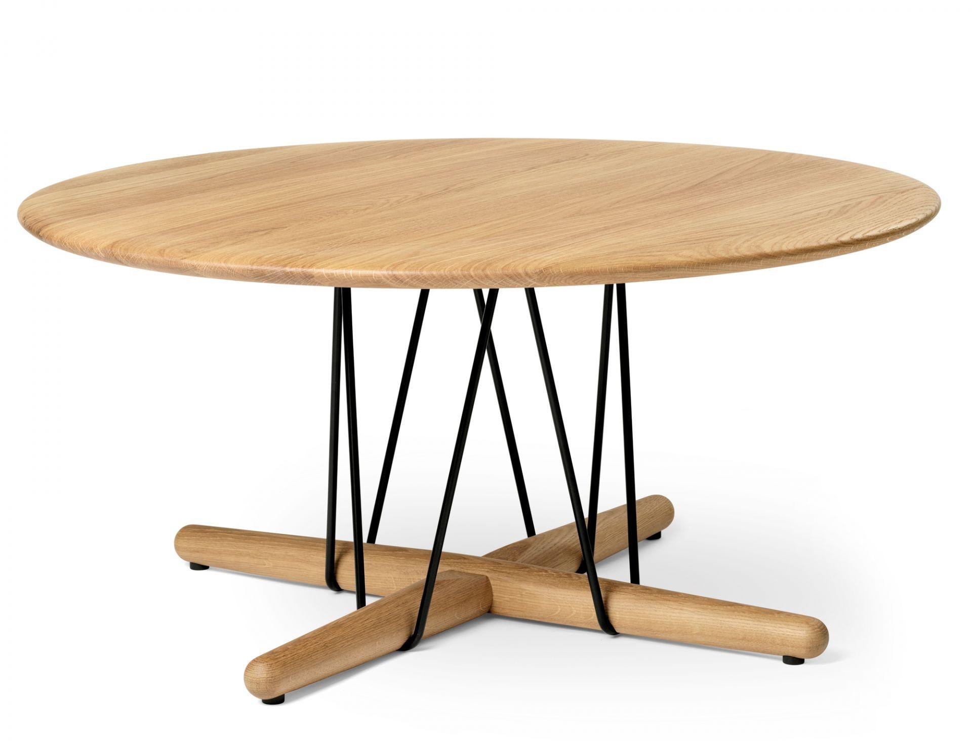 Embrace Lounge TableCarl Hansen & Søn Steel black powder-coated - Oak soaped